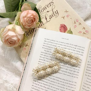 flower pearl pin