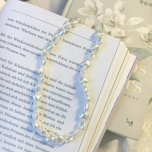 heart pearl necklace