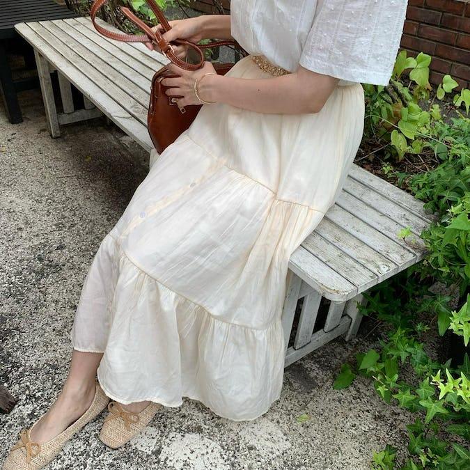 simple shine skirt-0