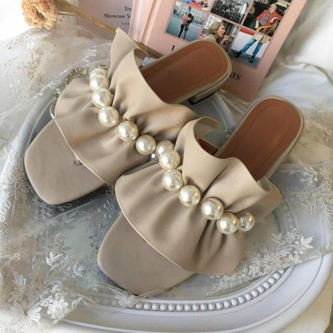 frill & pearl sandal-0