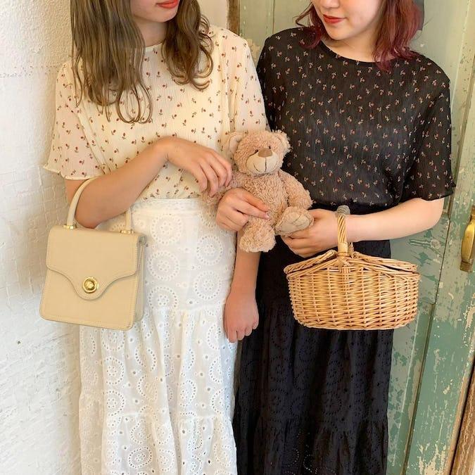 knit cami blouse set-0