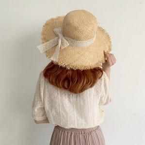 ribbon picnic hat