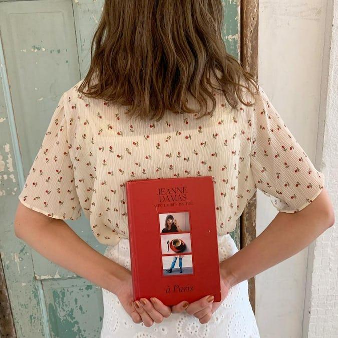 knit cami blouse set
