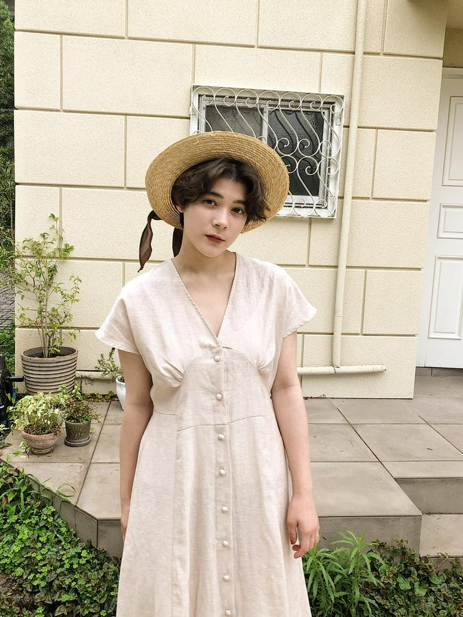 linen long onepiece