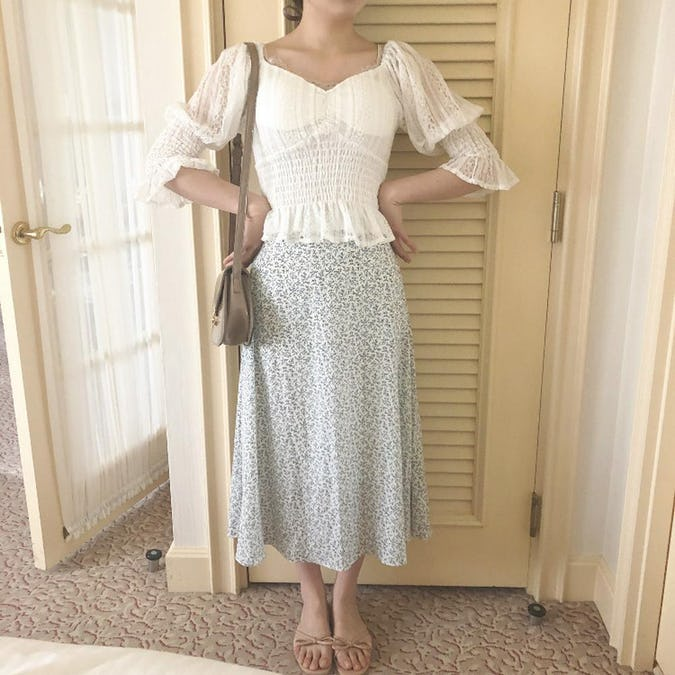 french flower skirt