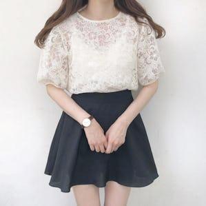 flower lace blouse