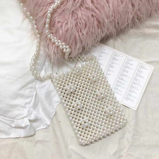 flower pearl bag-0