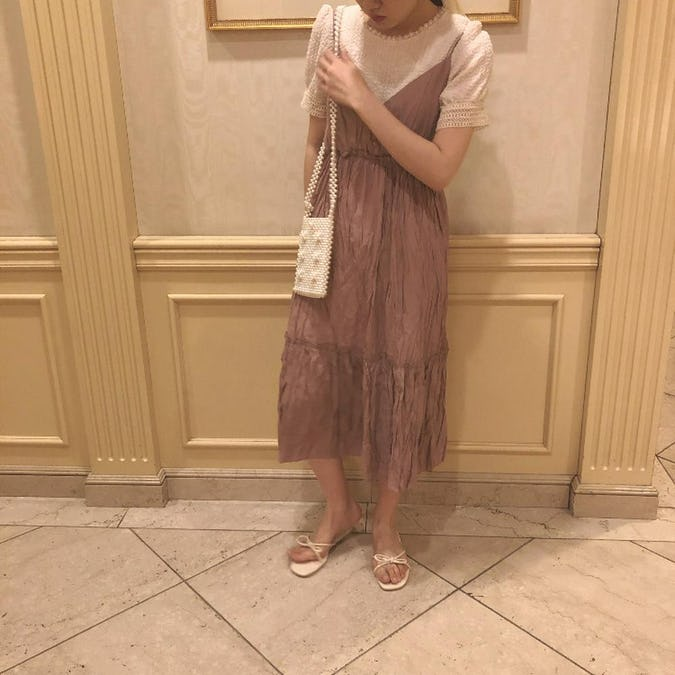 flower pearl bag
