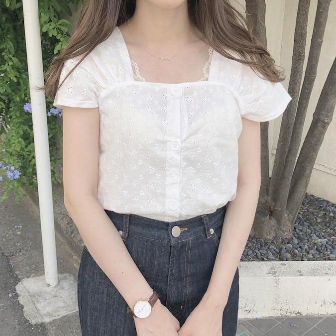 flower cotton blouse-0