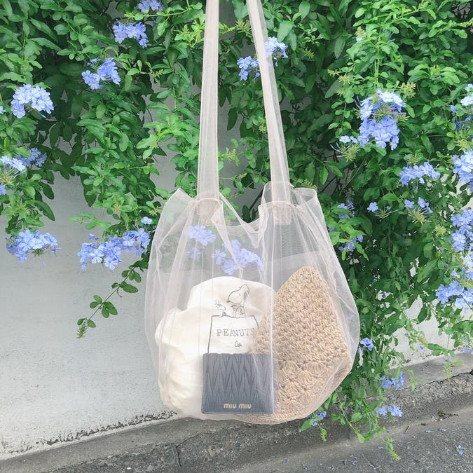 tulle tote bag-0