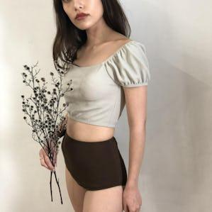 mint off shoulder bikini