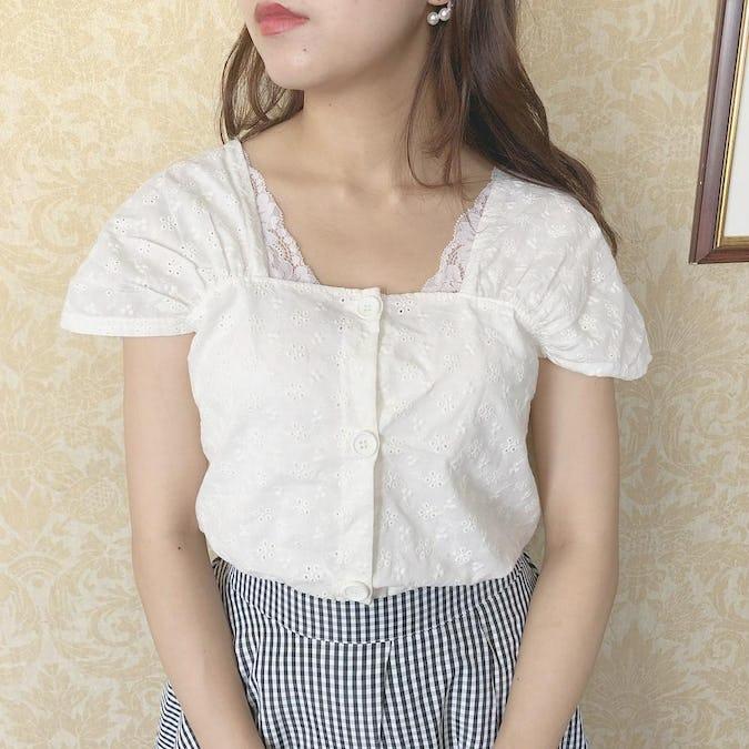 flower cotton blouse