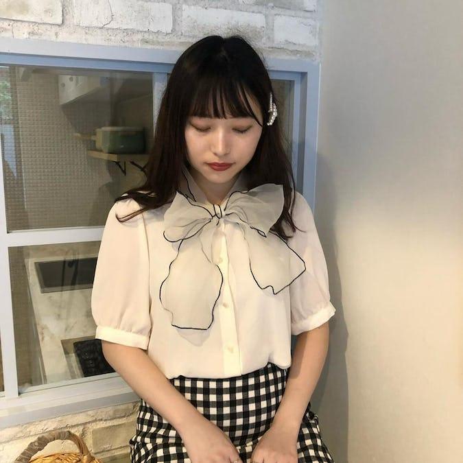【8/20~順次発送】ribbon scarf bl