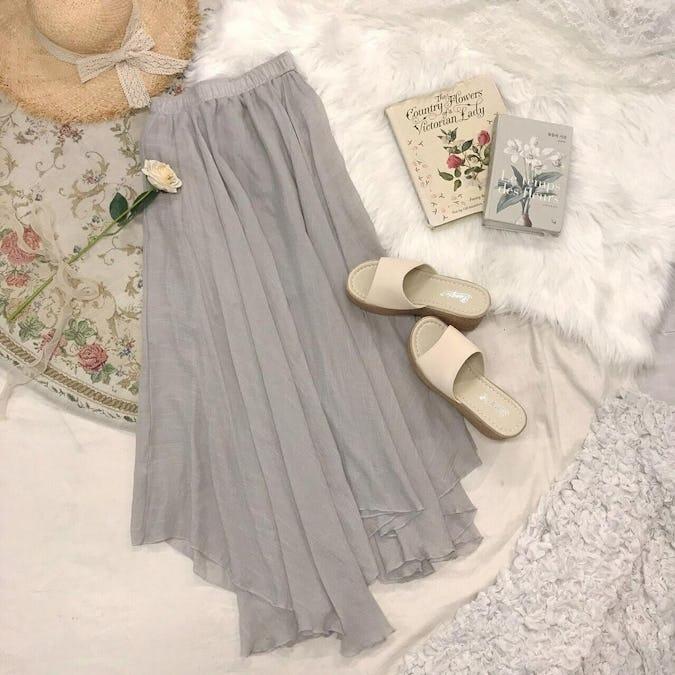 rinen long skirt-0