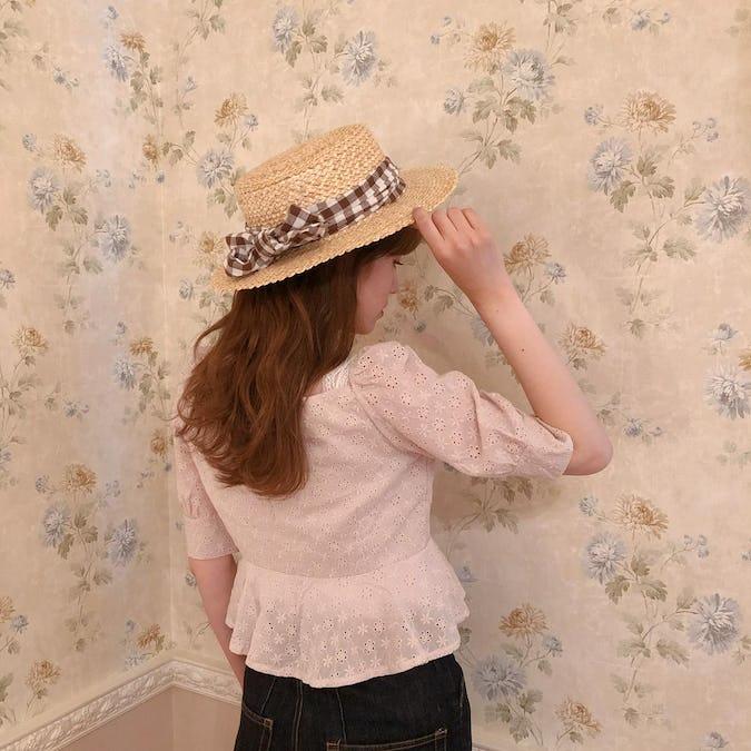 cotton puchi flower blouse