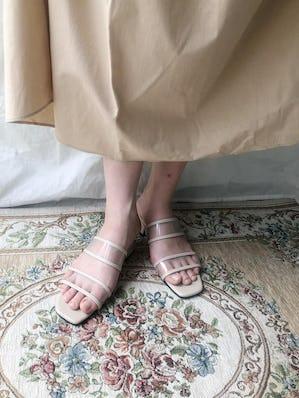 clear sandal