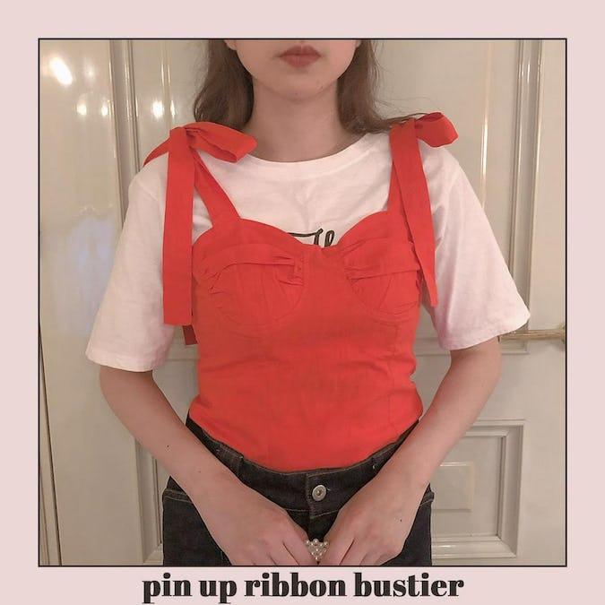 pin up ribbon bustier-0
