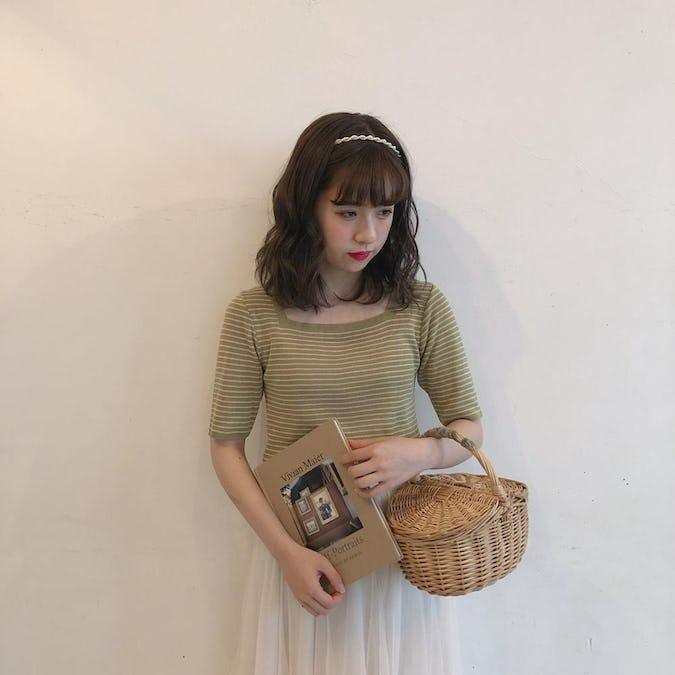 square neck knit T