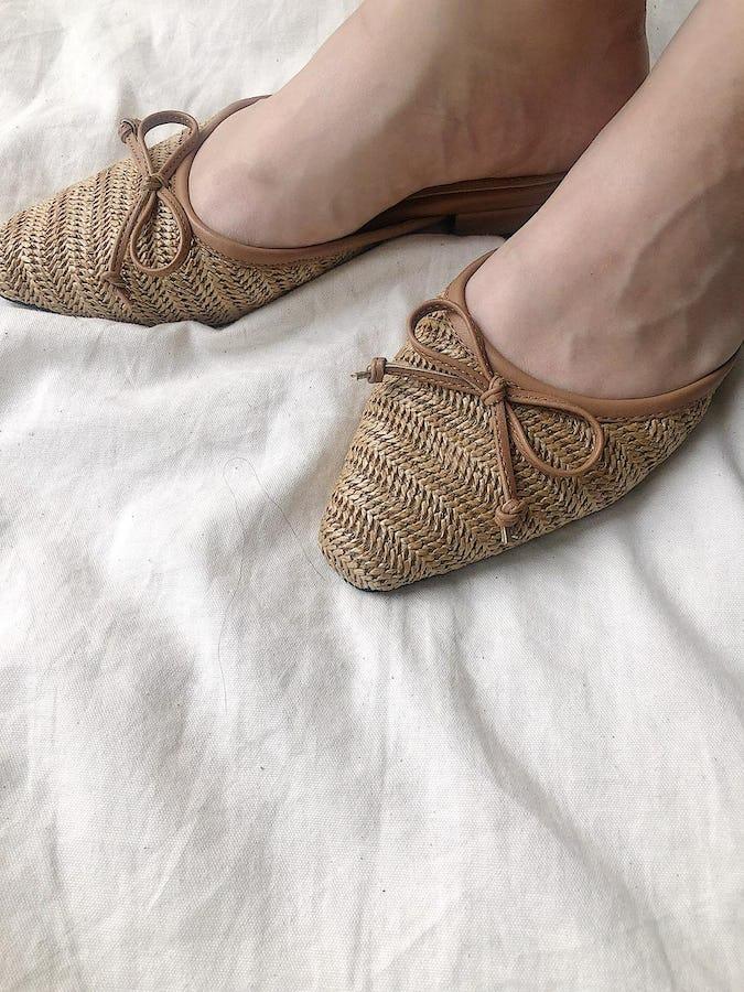 straw sandal