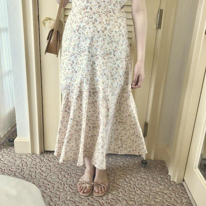 vintage flower skirt-0
