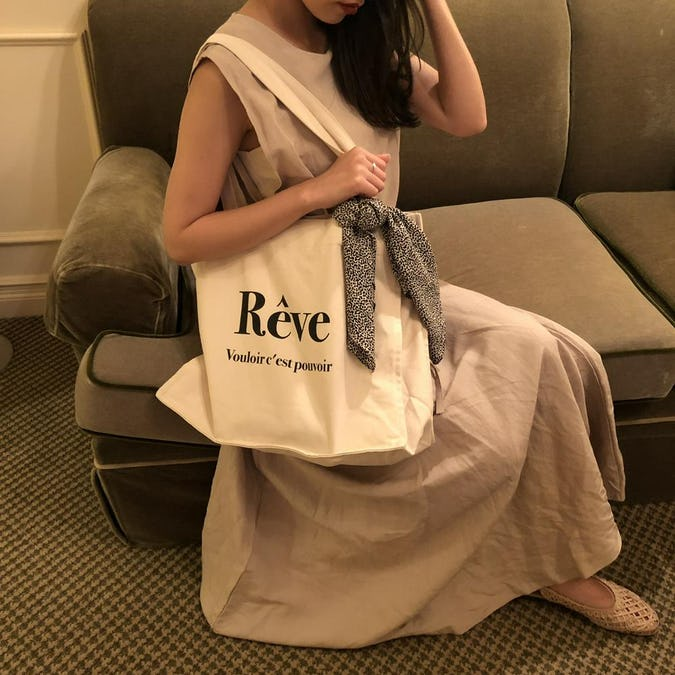 reve canvas totebag (スカーフ付)