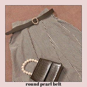 round pearl belt