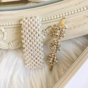 kirakira pearl pin set
