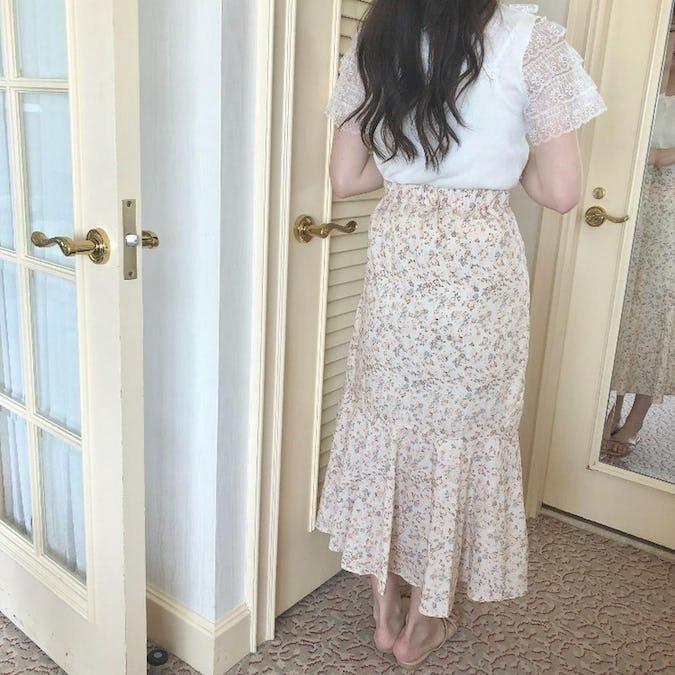 vintage flower skirt