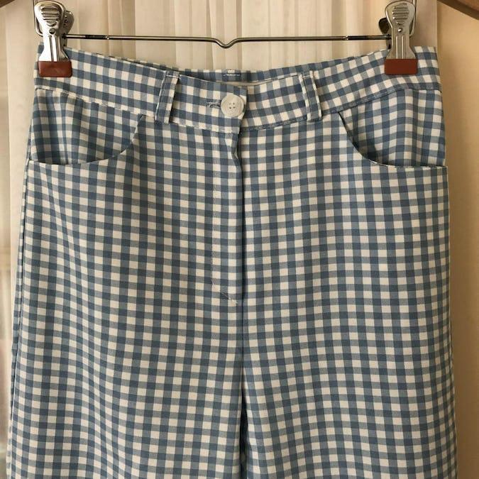 gingaham check pants