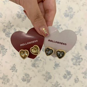heart cubic earring set