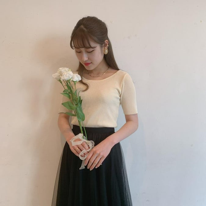 senaka ribbon knit T