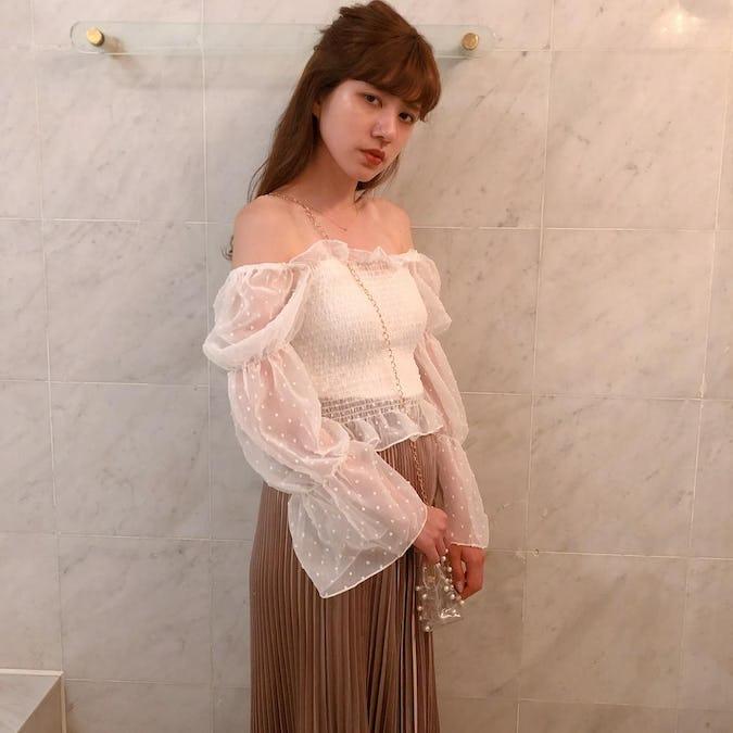 2way mermaid dot blouse