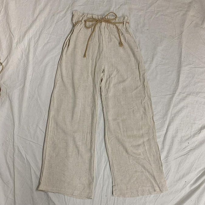 【8/2~順次発送】ribbon summer pants