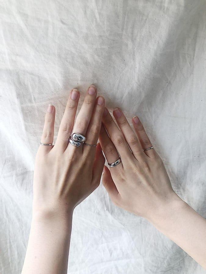 5 piece set rings