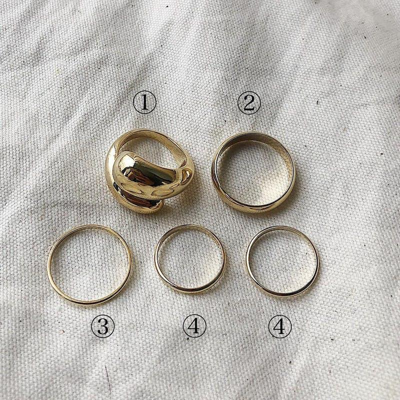 5 piece set ringsの画像9枚目