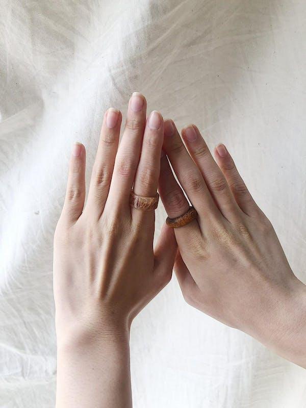 wood×marvel ring setの画像8枚目