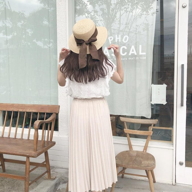 knit pleats skirt