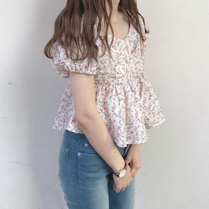 flower frill blouse-0