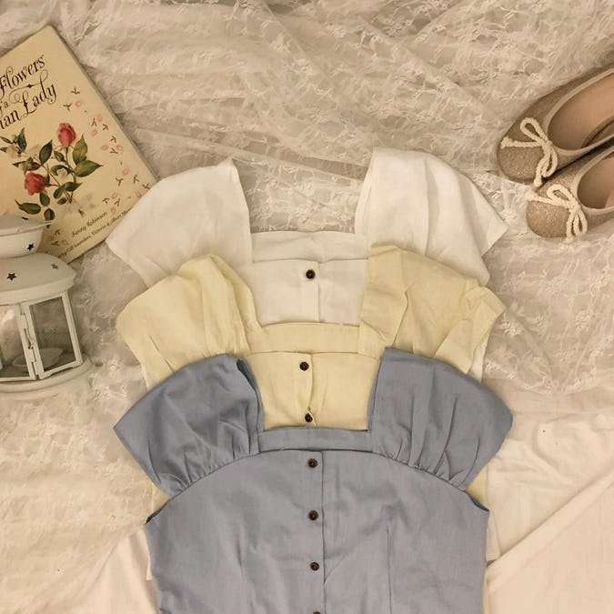 square shoulder tops