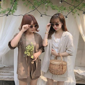 linen short pants set