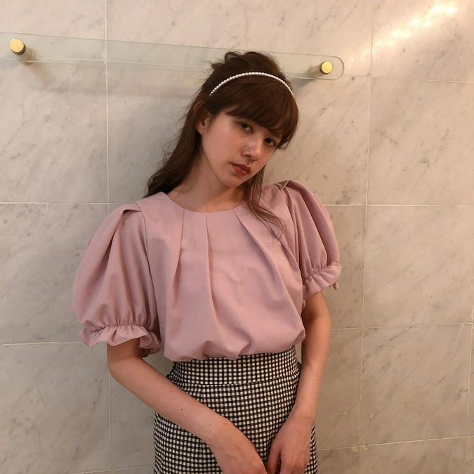 puff pink blouse-0