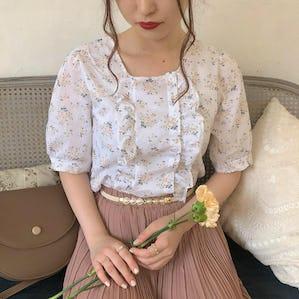 summer flower blouse