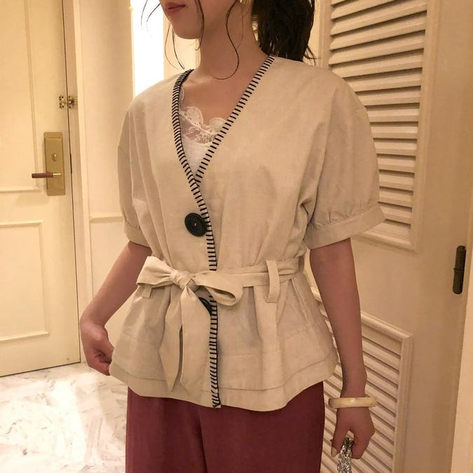 big stitch cache coeur blouse-0