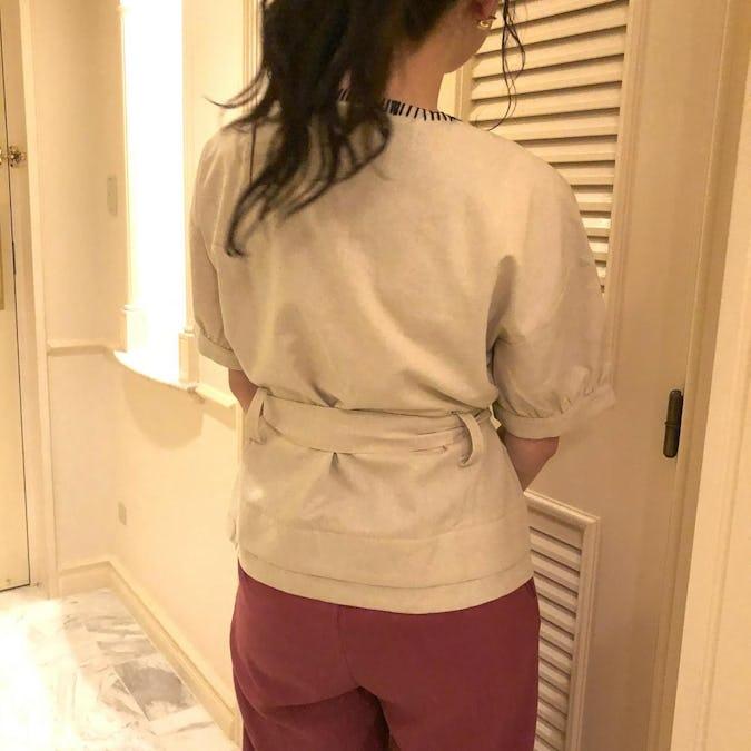 big stitch cache coeur blouse