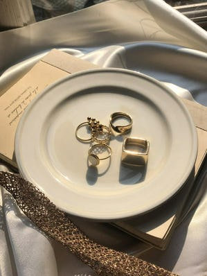 lady ring set (gold)