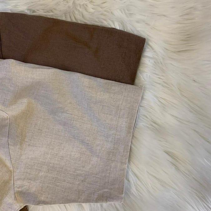 linen short pants set