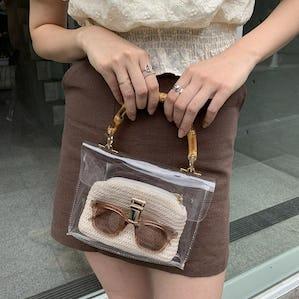 clear mini 2WAY bag