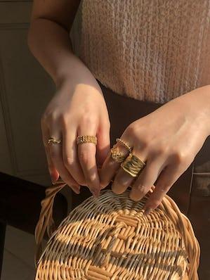rose ring set (gold)