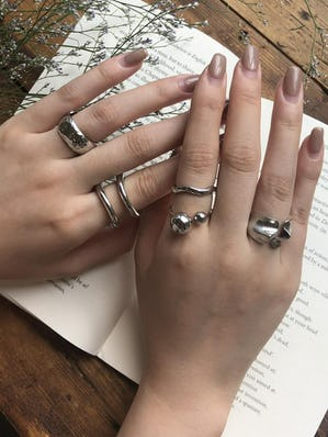 nuance ring set (silver)