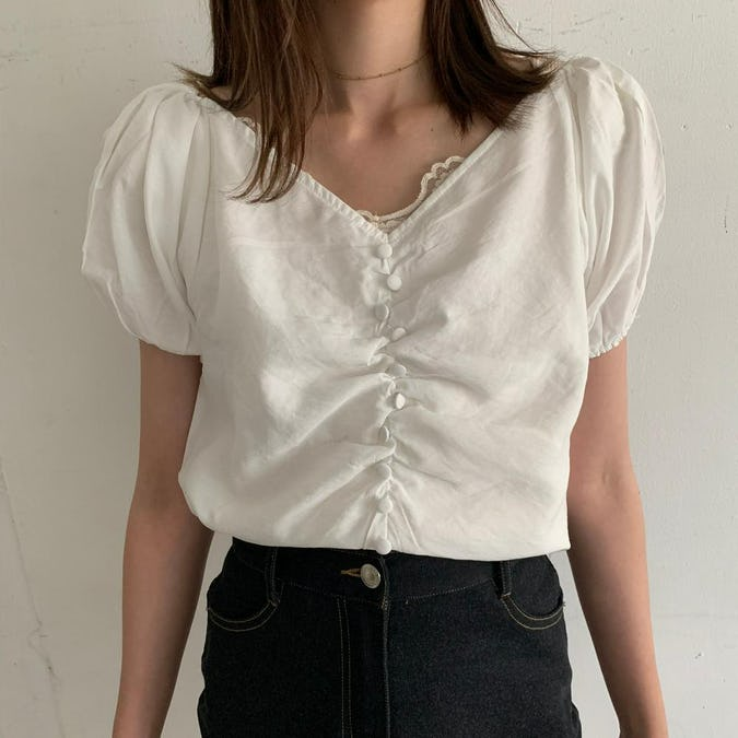 button line blouse-0